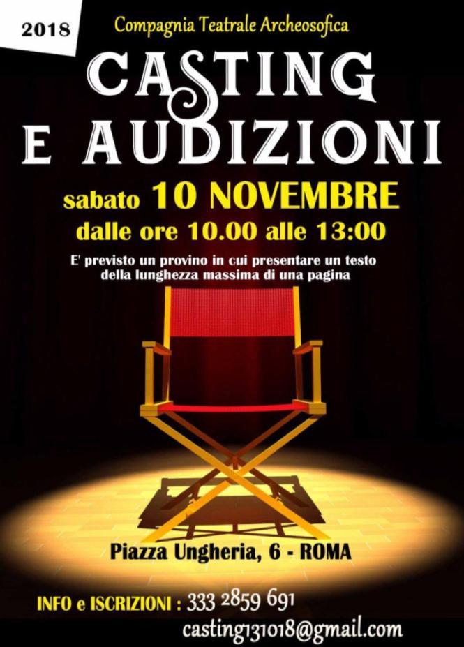Roma audizioni